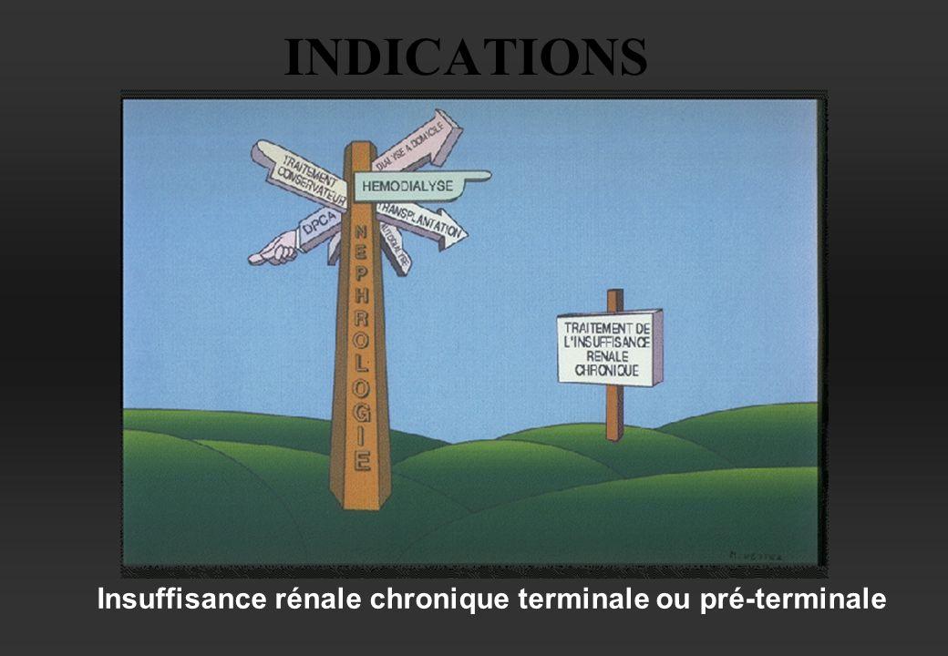 INDICATIONS Insuffisance rénale chronique terminale ou pré-terminale