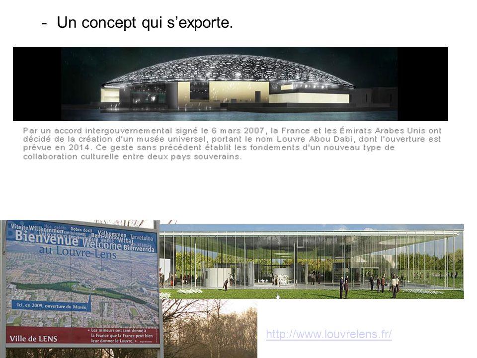 -Un concept qui sexporte. http://www.louvrelens.fr/