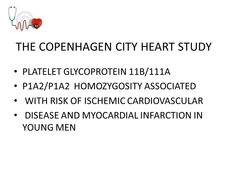 THE COPENHAGEN CITY HEART STUDY PLATELET GLYCOPROTEIN 11B/111A P1A2/P1A2 HOMOZYGOSITY ASSOCIATED WITH RISK OF ISCHEMIC CARDIOVASCULAR DISEASE AND MYOC