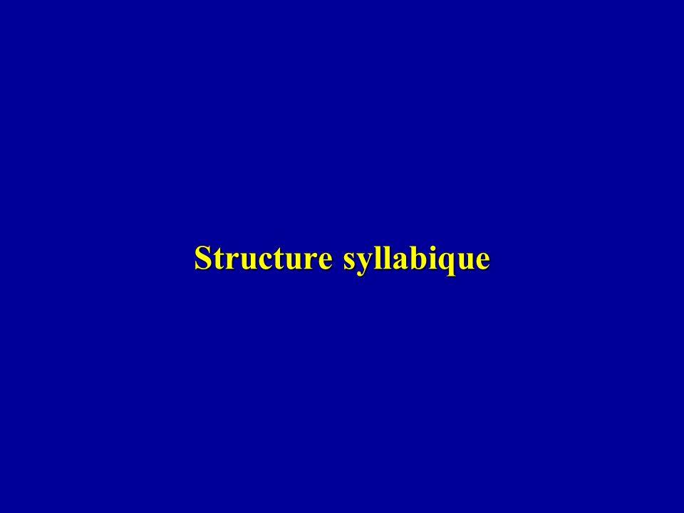 Structure syllabique