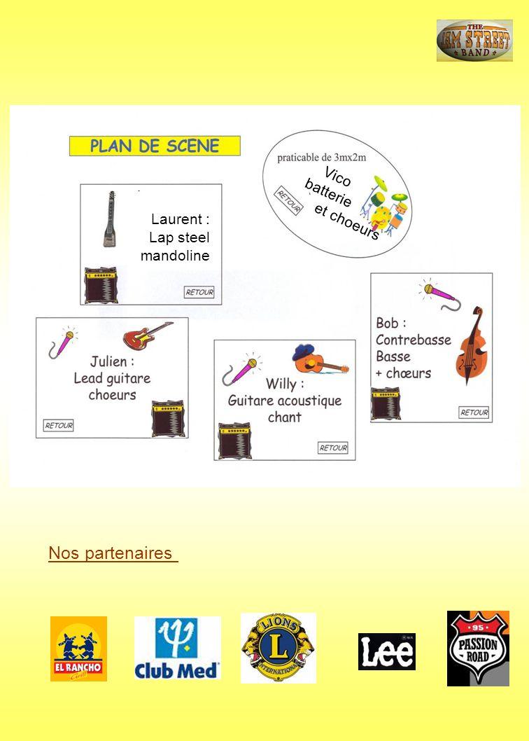 Nos partenaires Vico batterie et choeurs Laurent : Lap steel mandoline