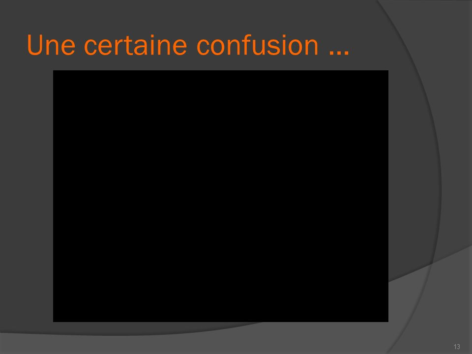 Une certaine confusion … 13