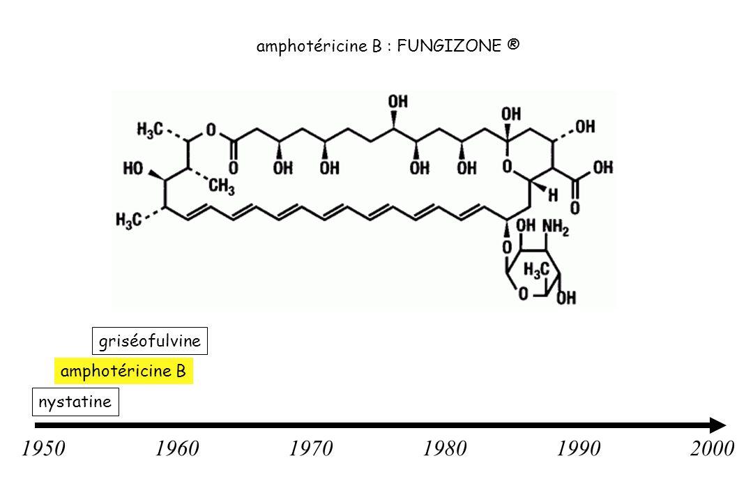 195019601970198019902000 nystatine griséofulvine amphotéricine B amphotéricine B : FUNGIZONE ®