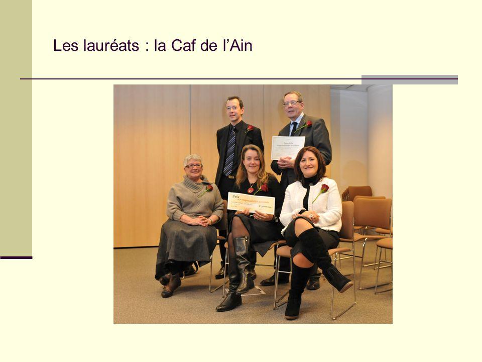 Les lauréats : la Caf de lAin