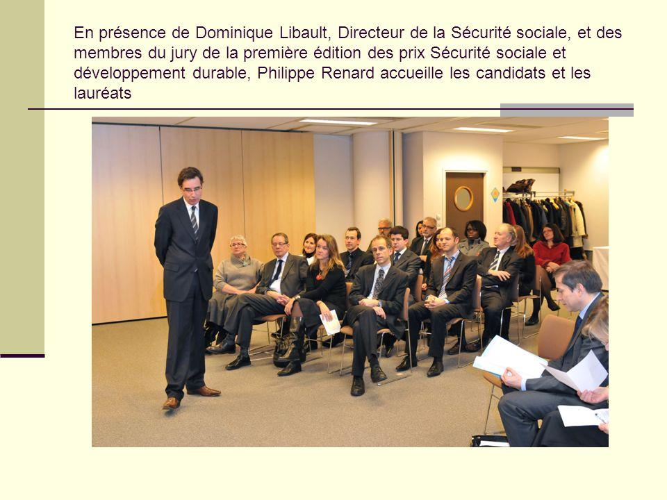 En présence de Dominique Libault, Directeur de la Sécurité sociale, et des membres du jury de la première édition des prix Sécurité sociale et dévelop