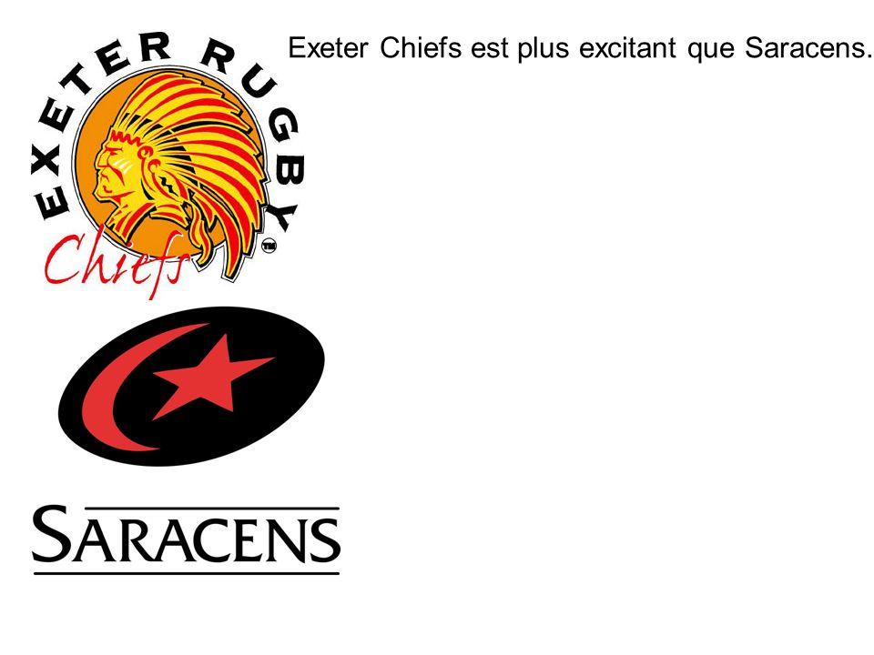 Exeter Chiefs est plus excitant que Saracens.