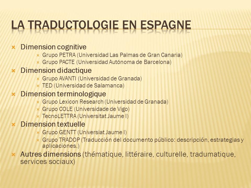 Dimension cognitive Grupo PETRA (Universidad Las Palmas de Gran Canaria) Grupo PACTE (Universidad Autónoma de Barcelona) Dimension didactique Grupo AV