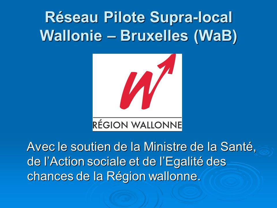Réseau Pilote Supra-local Wallonie – Bruxelles (WaB) Avec le soutien de la Ministre de la Santé, de lAction sociale et de lEgalité des chances de la R