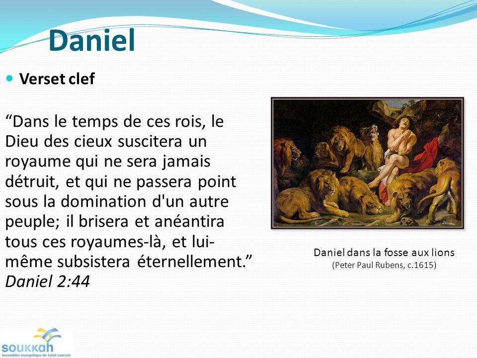 Daniel Verset clef Dans le temps de ces rois, le Dieu des cieux suscitera un royaume qui ne sera jamais détruit, et qui ne passera point sous la domination d un autre peuple; il brisera et anéantira tous ces royaumes-là, et lui- même subsistera éternellement.