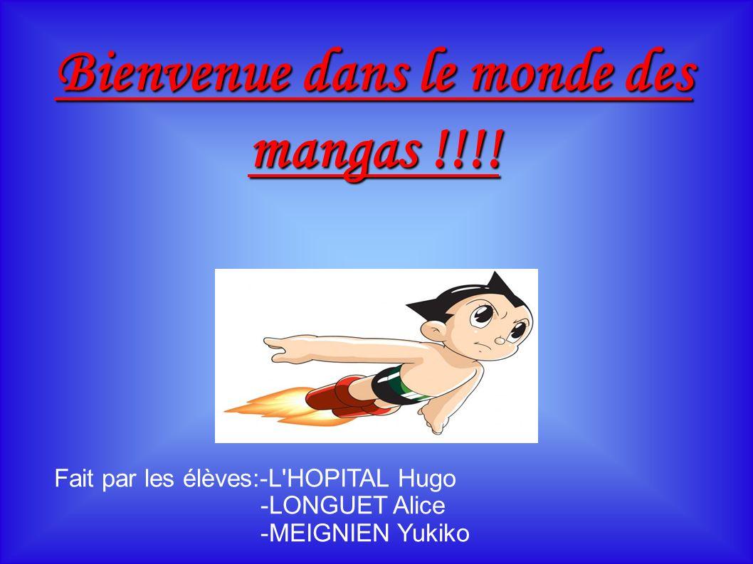 Bienvenue dans le monde des mangas !!!.