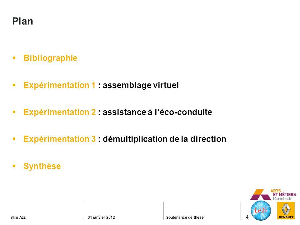 Slim Azzi31 janvier 2012Soutenance de thèse 35 Expérimentation 3 : démultiplication de la direction