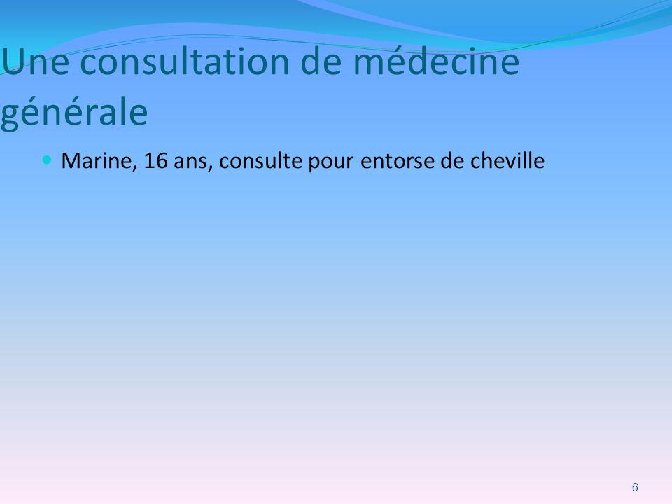 Une consultation de médecine générale Marine, 16 ans, consulte pour entorse de cheville 6