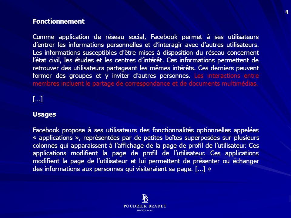 95 10.Les règles entourant la recevabilité des moyens de preuve « Facebook » : Code civil du Québec : « 2857.