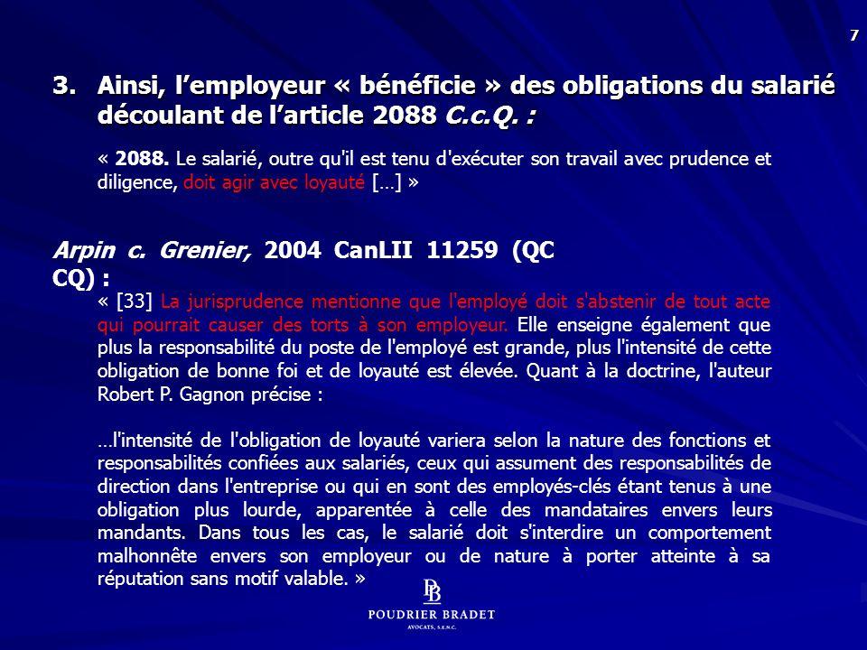 18 Linda CRAIG, Au travail et sous surveillance, Syndicat canadien de la fonction publique, 2006, p.