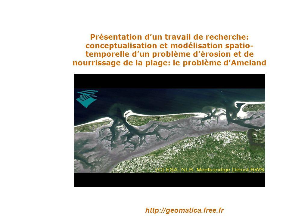 Présentation dun travail de recherche: conceptualisation et modélisation spatio- temporelle dun problème dérosion et de nourrissage de la plage: le problème dAmeland http://geomatica.free.fr