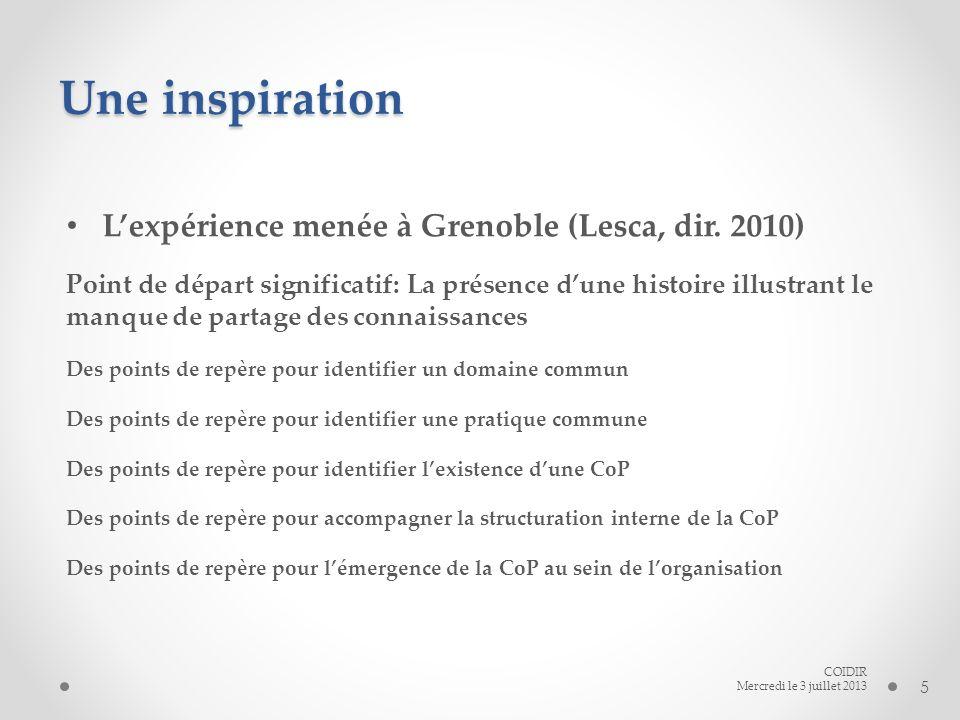 Une inspiration Lexpérience menée à Grenoble (Lesca, dir.