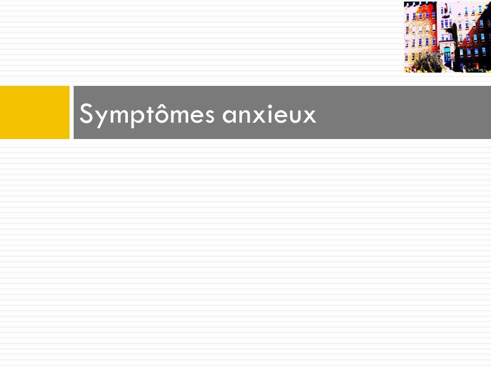 Symptômes anxieux