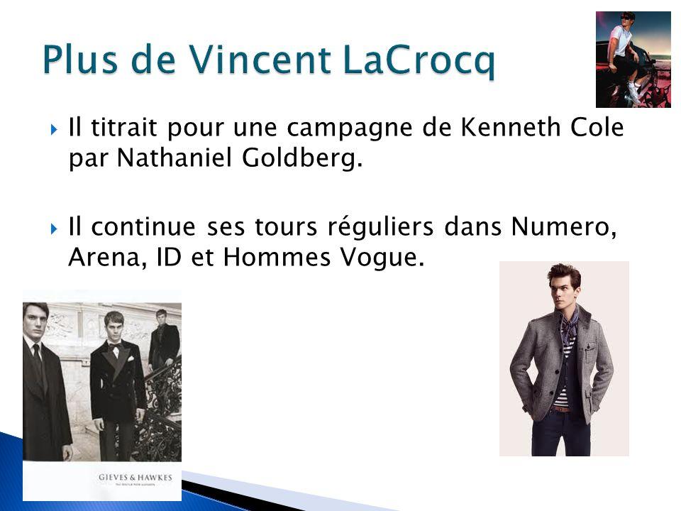 Il titrait pour une campagne de Kenneth Cole par Nathaniel Goldberg.