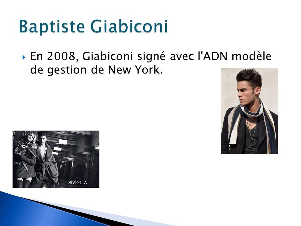 En 2008, Giabiconi signé avec l ADN modèle de gestion de New York.