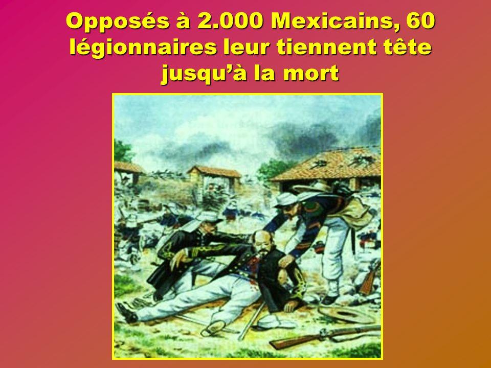 A Camerone au Mexique, le 30 avril 1863 se déroule le plus grand fait darmes de la légion étrangère.