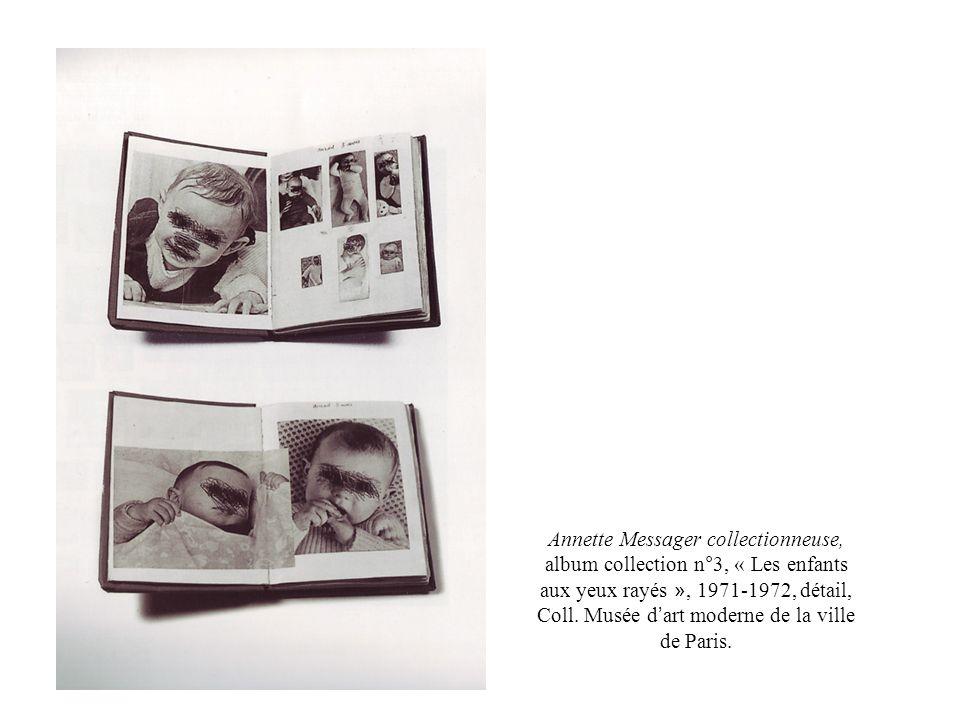 Annette Messager collectionneuse, album collection n°3, « Les enfants aux yeux rayés », 1971-1972, détail, Coll. Musée d art moderne de la ville de Pa