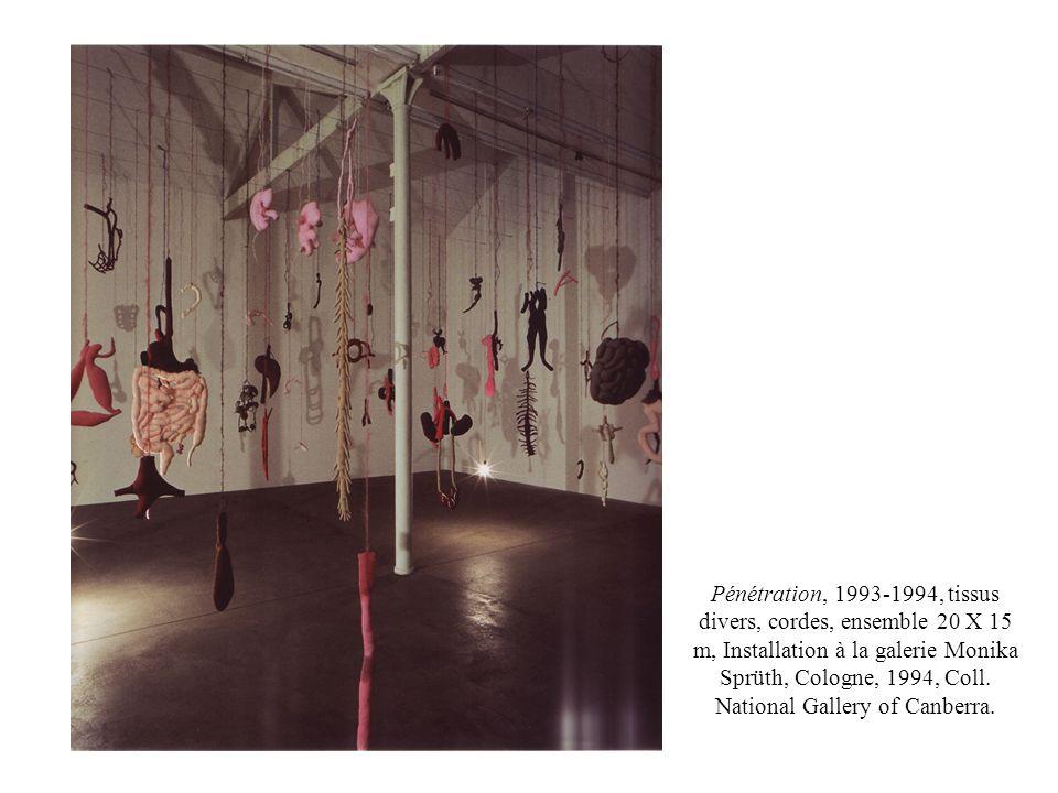 Pénétration, 1993-1994, tissus divers, cordes, ensemble 20 X 15 m, Installation à la galerie Monika Sprüth, Cologne, 1994, Coll. National Gallery of C