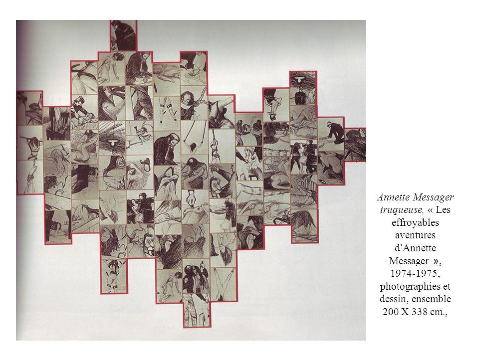 Annette Messager truqueuse, « Les effroyables aventures d Annette Messager », 1974-1975, photographies et dessin, ensemble 200 X 338 cm.,