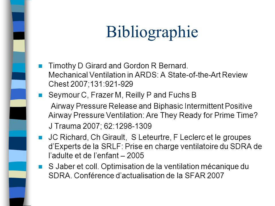 Bibliographie Timothy D Girard and Gordon R Bernard.