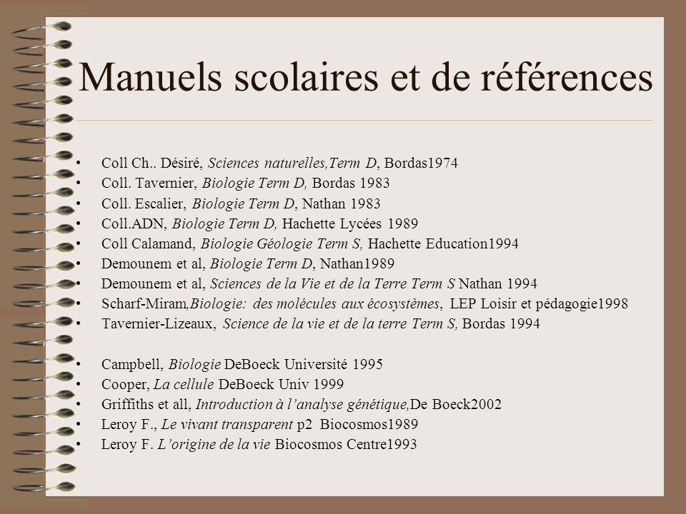 Manuels scolaires et de références Coll Ch.. Désiré, Sciences naturelles,Term D, Bordas1974 Coll.