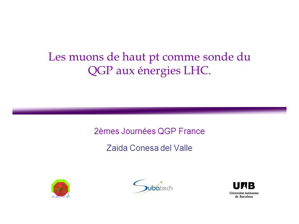 Les muons de haut pt comme sonde du QGP aux énergies LHC.