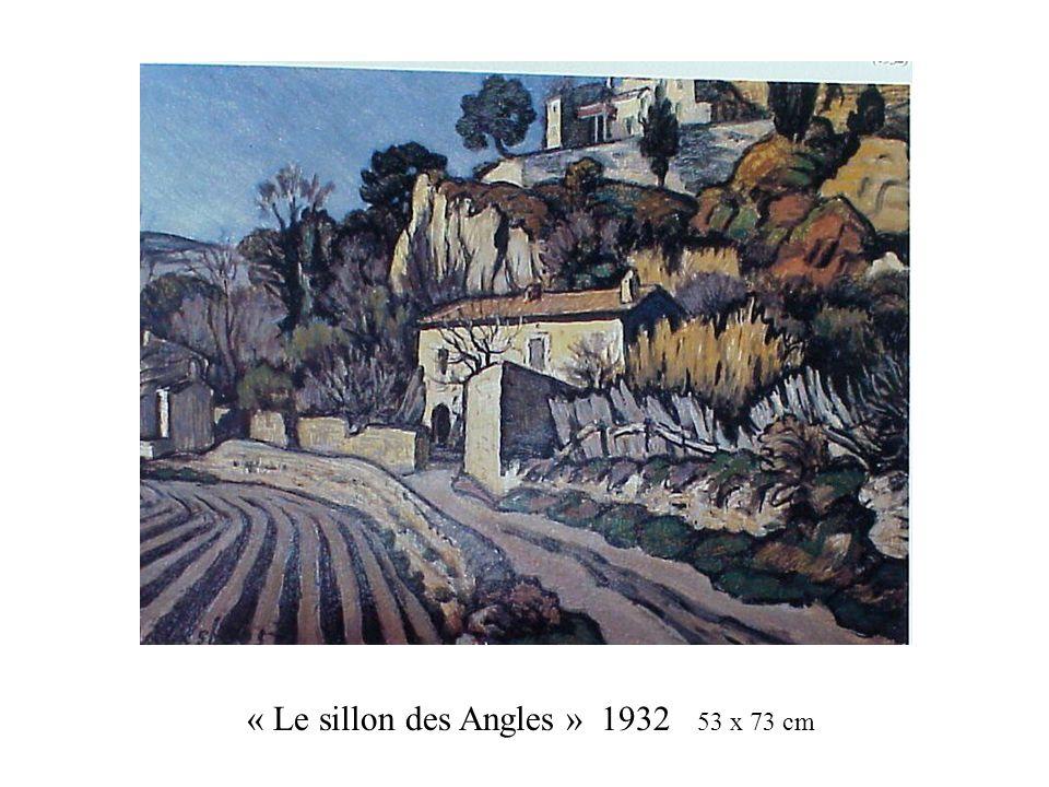 « Le sillon des Angles » 1932 53 x 73 cm