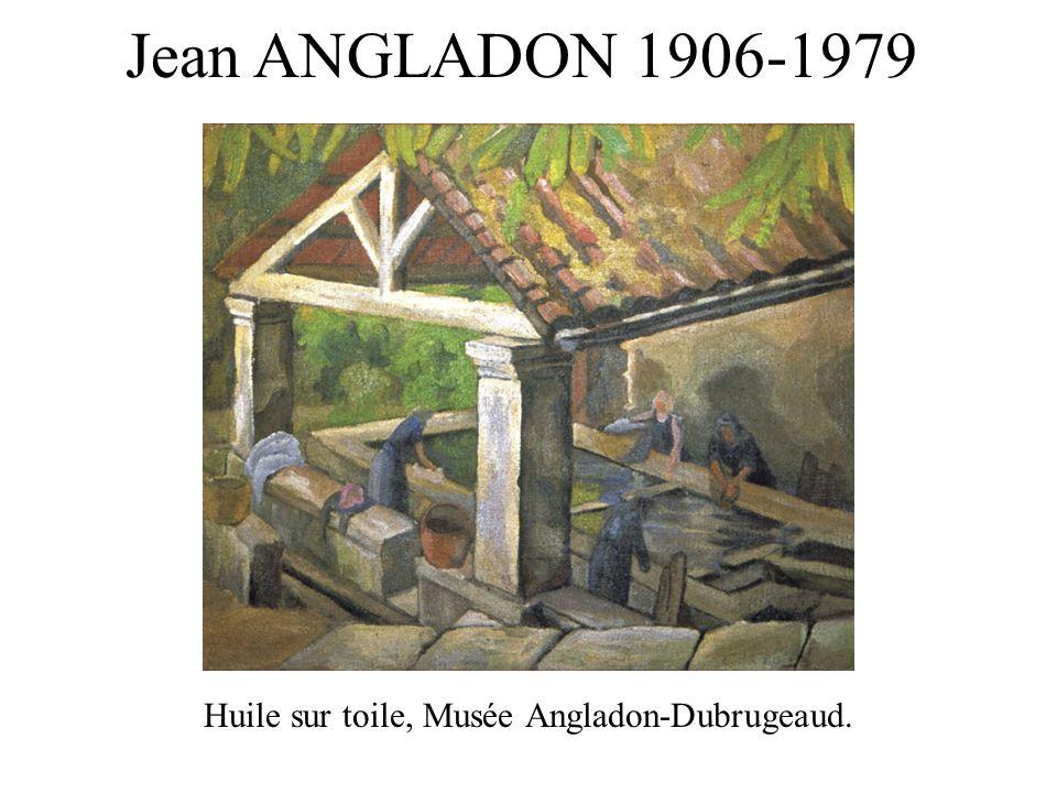 Huile sur toile, Musée Angladon-Dubrugeaud. Jean ANGLADON 1906-1979