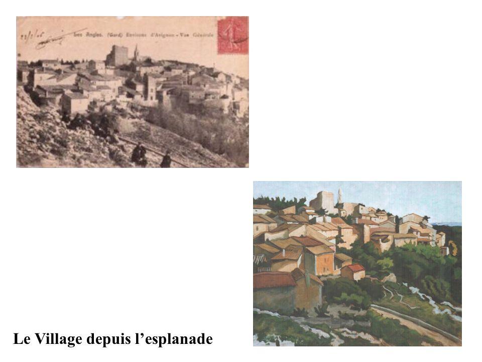 Le Village depuis lesplanade