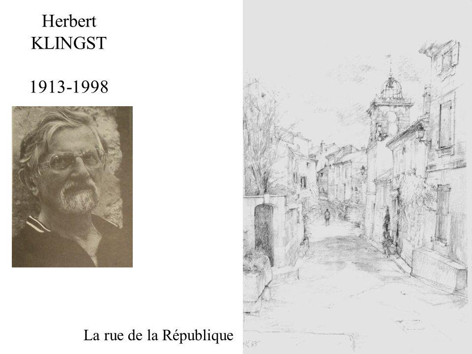 Herbert KLINGST 1913-1998 La rue de la République