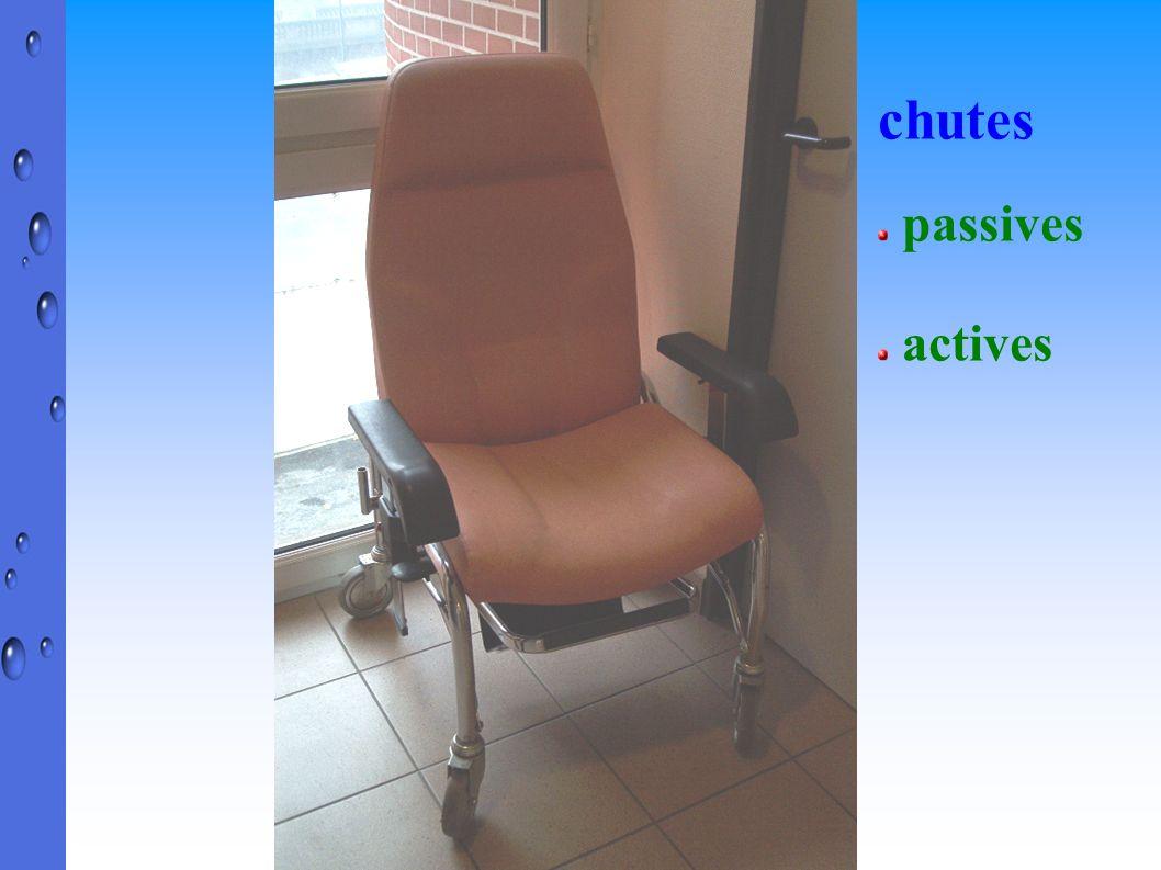Au fauteuil : ceintures de maintien, abdominales ou pelviennes, vestes, gilets ou harnais, vêtements ou draps détournés de leur utilisation habituelle, « bricolage».