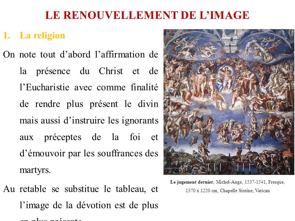 LE RENOUVELLEMENT DE LIMAGE 1.La religion On note tout dabord laffirmation de la présence du Christ et de lEucharistie avec comme finalité de rendre p