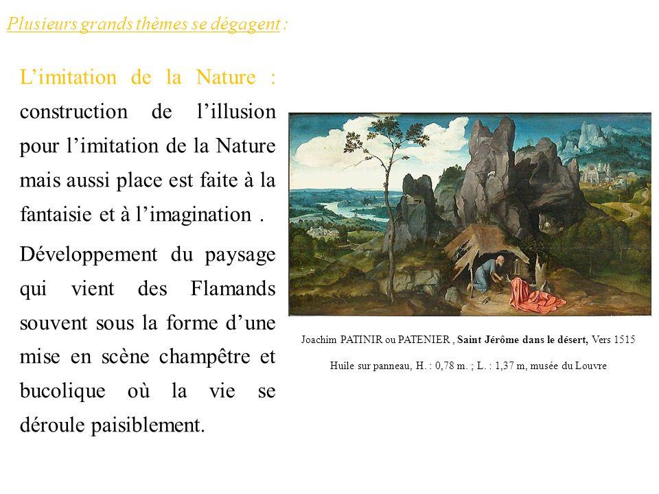 Plusieurs grands thèmes se dégagent : Limitation de la Nature : construction de lillusion pour limitation de la Nature mais aussi place est faite à la
