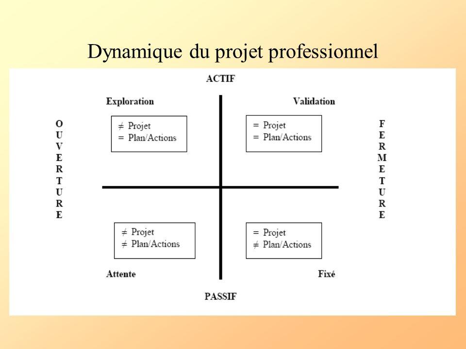 Dynamique du projet professionnel