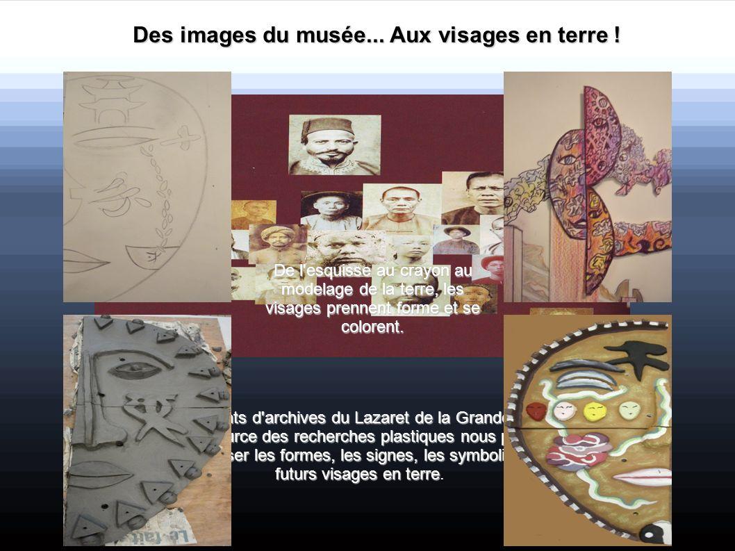 Les documents d'archives du Lazaret de la Grande Chaloupe on été la source des recherches plastiques nous permettant de synthétiser les formes, les si