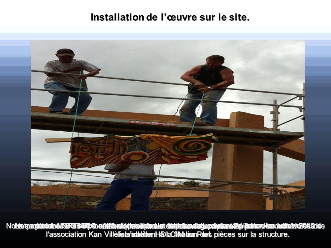 Notre partenaire SRTI a procédé au transport et la pose des poutres en béton venues du site de fabrication HOLCIM au Port. Installation de lœuvre sur