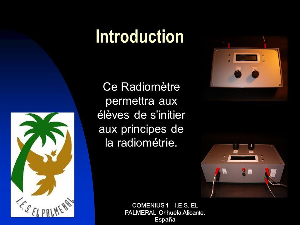 Introduction Ce Radiomètre permettra aux élèves de sinitier aux principes de la radiométrie.