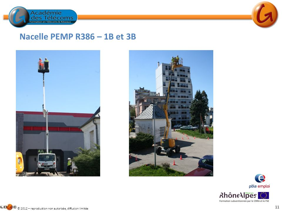 11 © 2012 – reproduction non autorisée, diffusion limitée Nacelle PEMP R386 – 1B et 3B