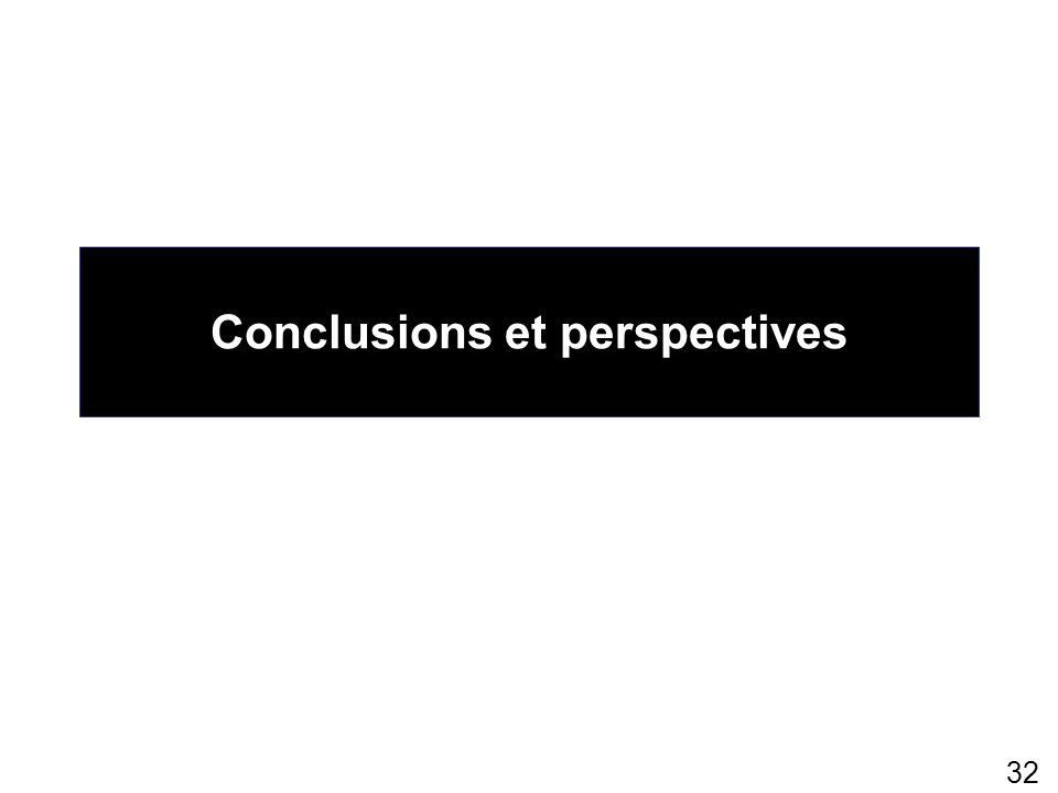 32 Conclusions et perspectives