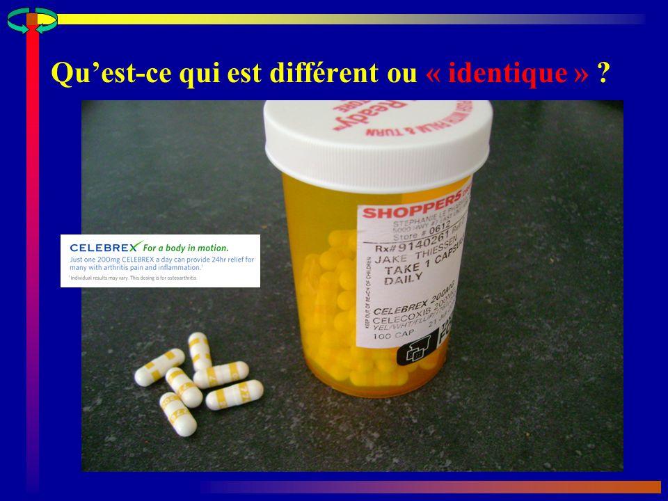 Variation au sein dun produit (Coumadin 5 mg ) A Yacobi et col.