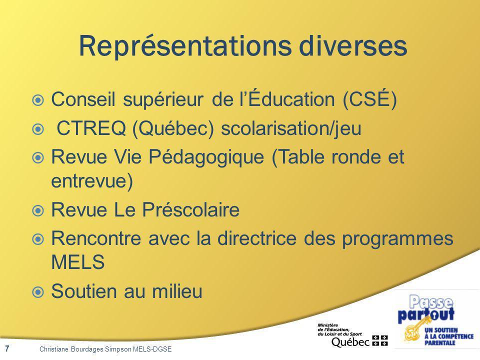 Site Web Récit préscolaire http://recitpresco.qc.ca/