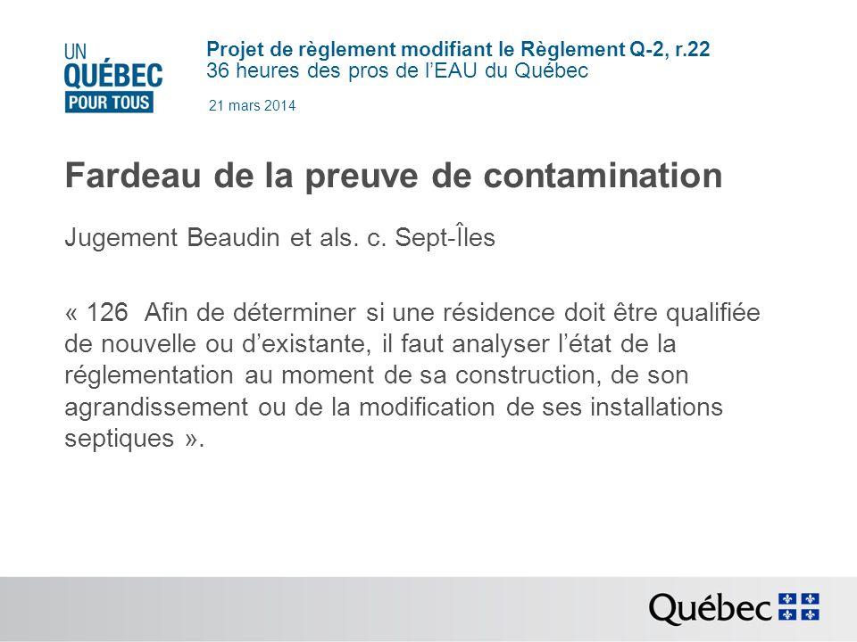 Projet de règlement modifiant le Règlement Q-2, r.22 36 heures des pros de lEAU du Québec 21 mars 2014 Servitude 87.30.2.