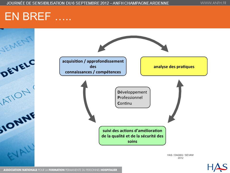 EN BREF ….. JOURNÉE DE SENSIBILISATION DU 6 SEPTEMBRE 2012 – ANFH CHAMPAGNE ARDENNE