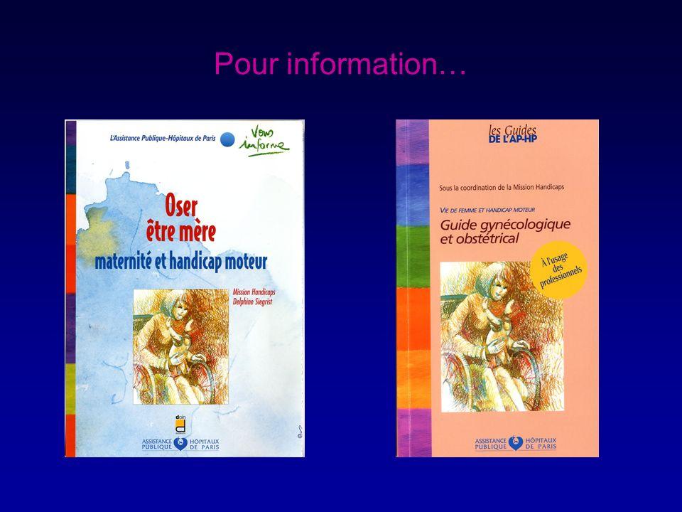Pour information…