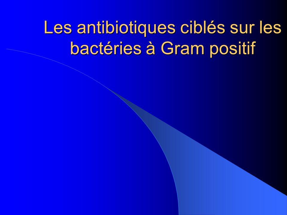 Les antibiotiques ciblés sur les bactéries à Gram positif