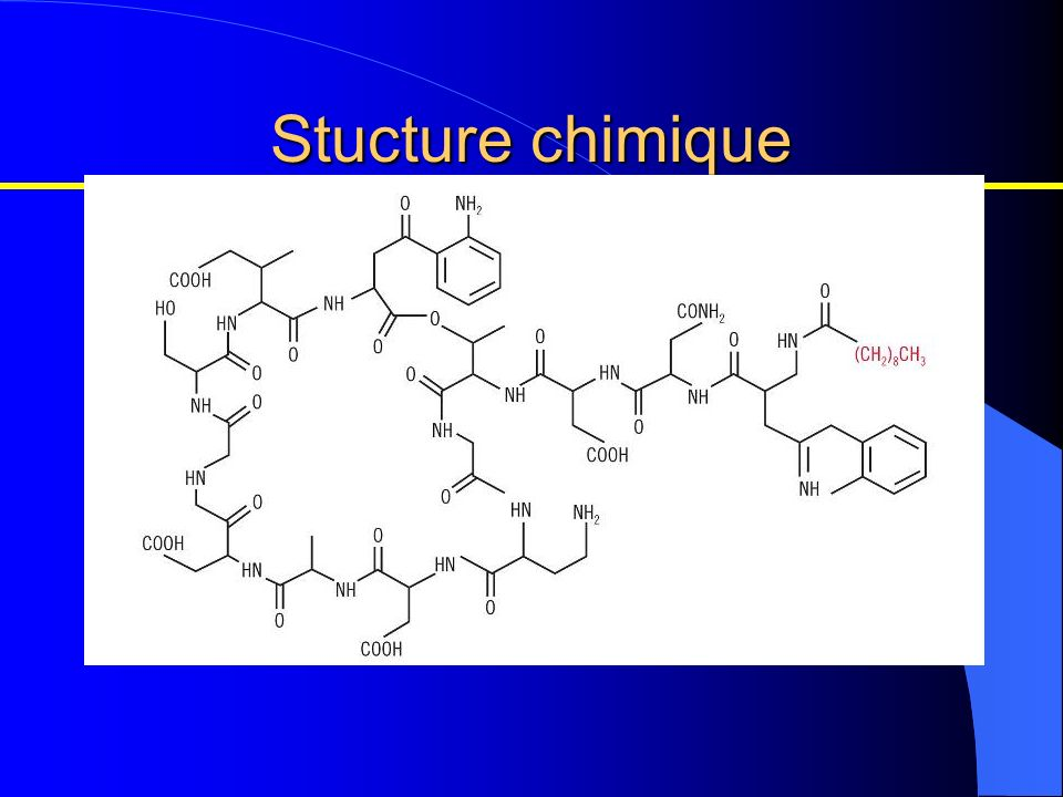 Stucture chimique